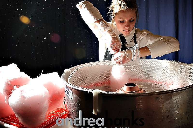 cotton candy machine being used