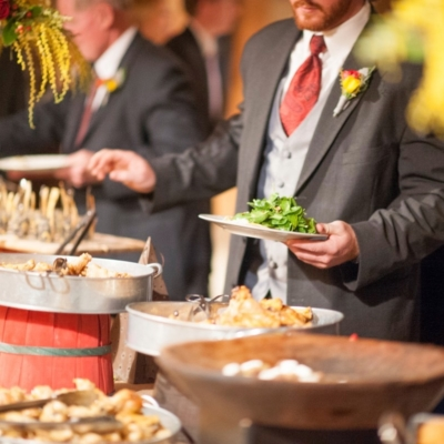 catering buffet line