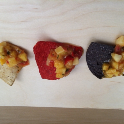 chips and mango salsa