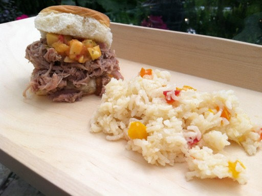 pork slider and rice